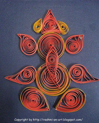 Ganesha   Quilling Design - Lord Ganesha   Calligraphy   Art   Drawing ...