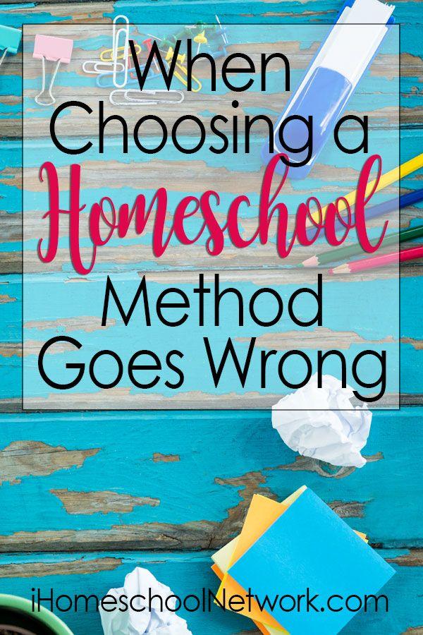 When Choosing a Homeschool Method Goes Wrong • #homeschooling