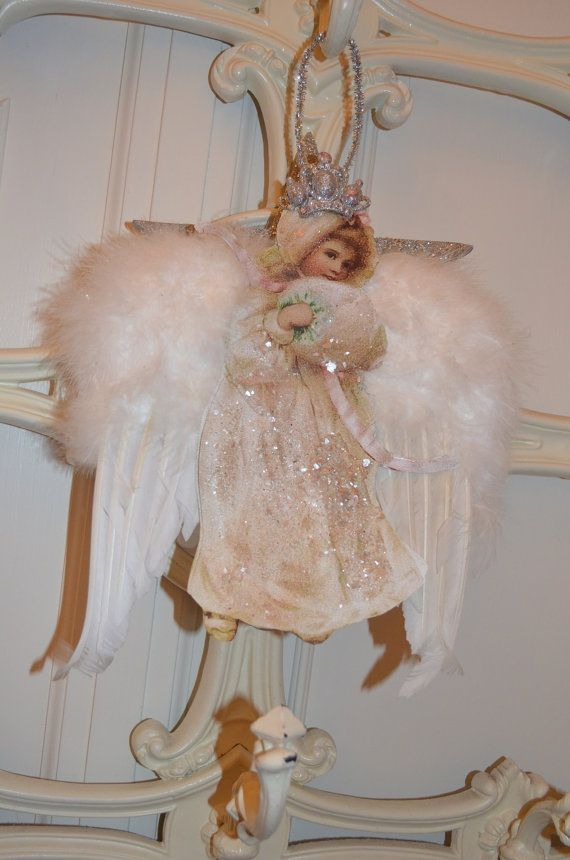 Angel Decoration.Ornament.Regina Queen of the by THEVELVETRABBIT, $35.00