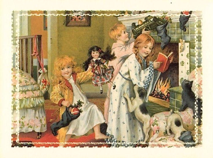 Old Christmas Post Сards — Vintage (1000x743):