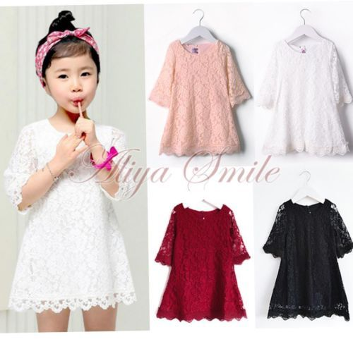 Kids Girl Toddler Infant Baby Wedding Lace Top