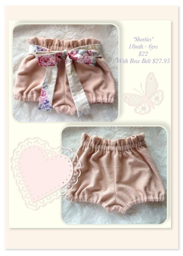 These gorgeous high waisted shorts are a must have for this Spring /Summer!Super comfy elasticised waist and legs, perfect for bubs through to young girls. Team them with a lacey singlet in the warmer months or add some Lacey leggings underneath for the cooler spring days for a pretty vintage style look.