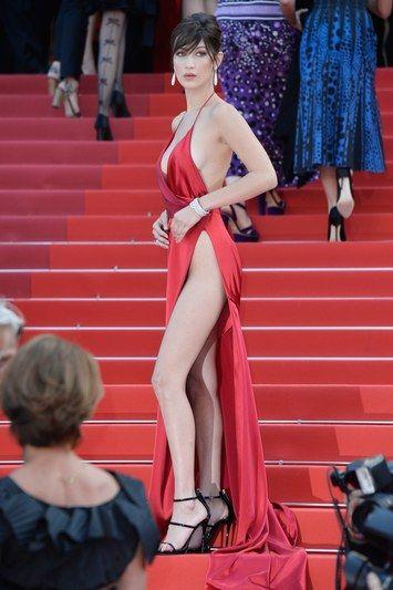 Bella Hadid Avoids Major Wardrobe Malfunction at Cannes Film ...