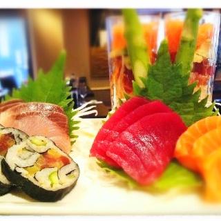 Sashimi og maki!