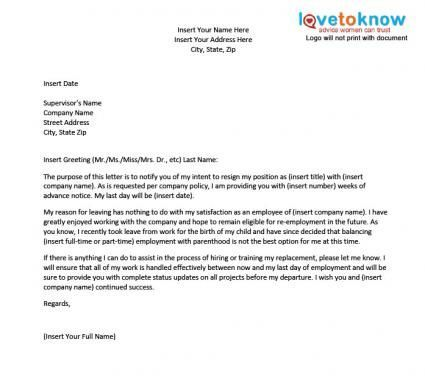 The 25+ best Sample of resignation letter ideas on Pinterest - example of a letter of resignation
