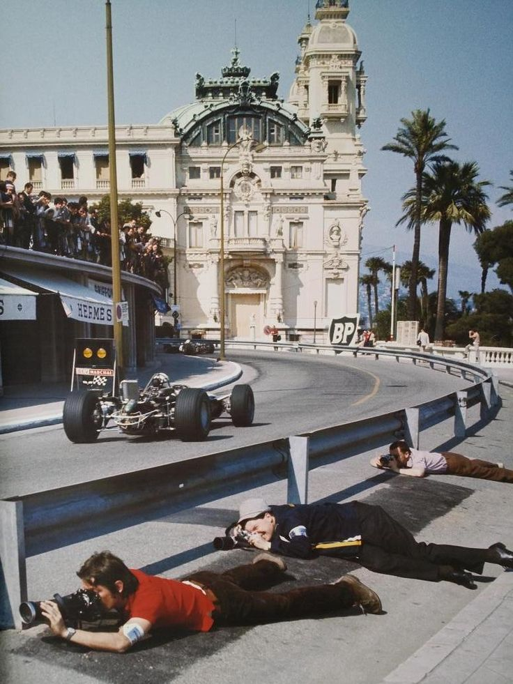 photographers at Monaco 1968 - picture by Rainer W. Schlegelmilch