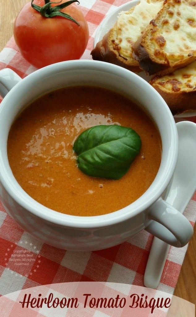 Crema de Tomates Heirloom es una rica opción para la Cuaresma #LentenRecipes #ABRecipes