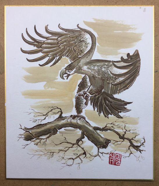 Eagle in Sepia