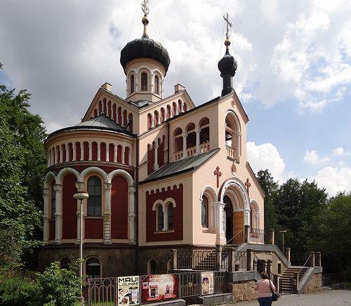 Die russisch-orthodoxe Kirche des Heiligen Wladimir in Marienbad