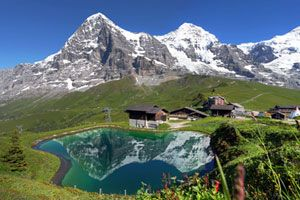 Eiger, Monch and Jungfrau mountains, Swiss Alps Jungfrau-Aletsch (© Mihai-Bogdan Lazar - Fotolia.com)