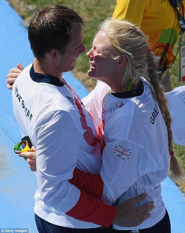 Matt Langridge and Polly Swann were pictured sharing a special moment as they…