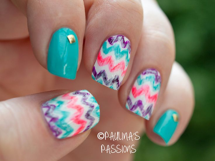 127 best nails images on pinterest nail scissors make up and learn how to make this interesting zig zag chevron print on your nails from the nail tutorial solutioingenieria Gallery