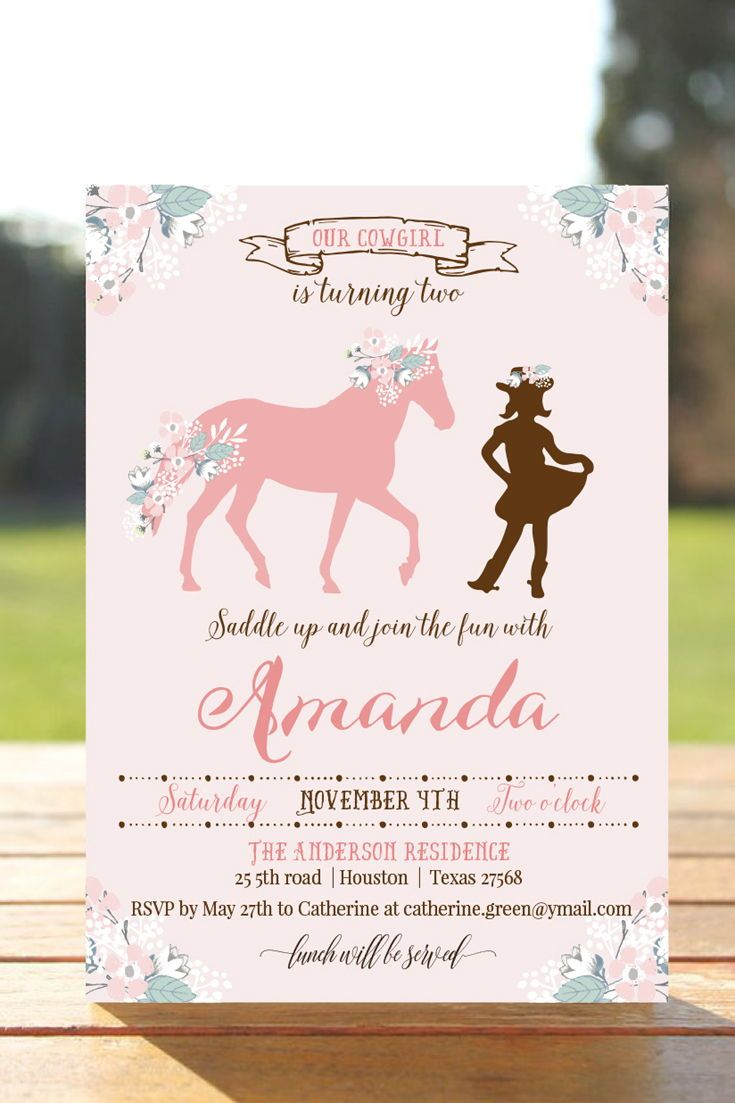 Rustic Cowgirl Birthday Invite Cowgirl Party Invitation Pink Cowgirl Birthday Invitation Western Invite Printable Farm Birthday Invite A3 Cowgirl Birthday Invitations Birthday Invitations Cowgirl Birthday