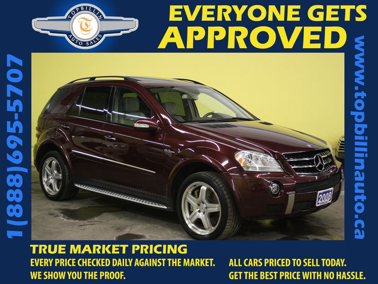 Mercedes-Benz ML63 AMG Used Cars Toronto Vaughan Ontario Canada    http://www.topbillinauto.ca/certified/Mercedes-Benz/2008-Mercedes-Benz-M-Class-3d3033450a0e08bc298d16da15dc24d4.htm     Pick your Car, Pick your Payment Apply for your Car Loan Online in 5 minutes.     We are specialized in car loans in GTA area , Get Approved even with bad credit. We can arrange for your #Carloan
