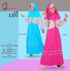 Baju Gamis Anak Rahnem GH 1351 -  Promo Ramadhan Sale