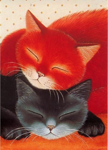 Cats in Art, Illustration, Photography, Decorative Arts, Textiles, Needlework and Design: Anna Hollerer