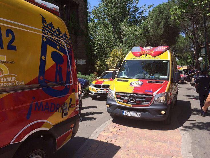 Al menos 26 heridos tras la colisión de dos convoyes en una montaña rusa