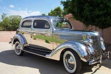 One of six 1936 stainless steel Ford's built for the Ludlum Steel Co. to promote using their product