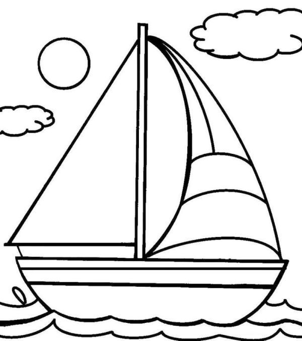 Printable Sailboat Coloring Pages Boat Drawing Coloring Pages