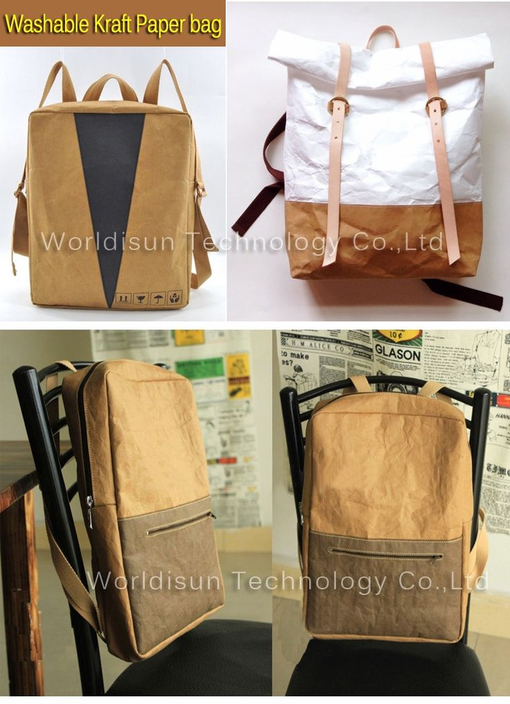 Packing Factory Custom waterproof Paper Bags/hot selling Washable kraft Paper Bag wholesale travel backpack bag, View kraft paper bags, WDS Product Details from Shenzhen Worldisun Technology Co., Ltd. on Alibaba.com