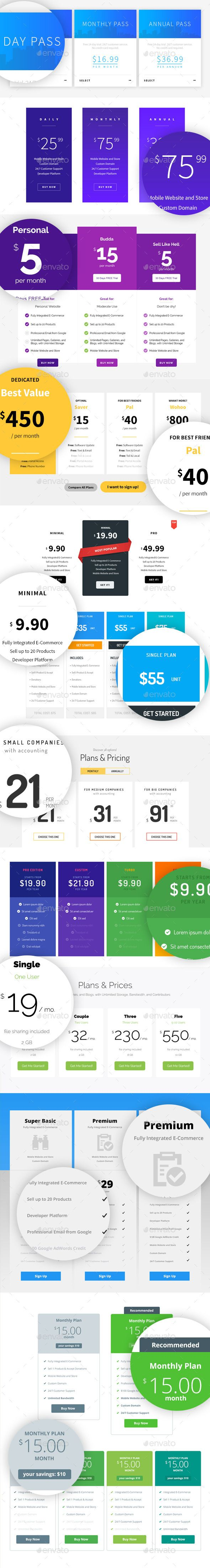 12 Pricing Tables Layouts Template PSD. Download here: http://graphicriver.net/item/12-pricing-tables-layouts/12556378?ref=ksioks
