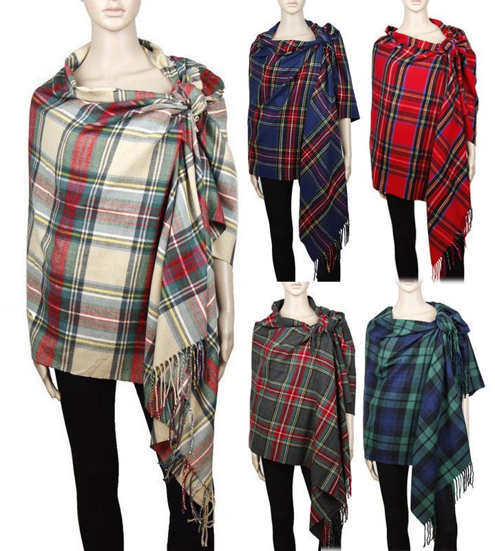 Women Men Blanket Oversized Tartan Cashmere Feel Long Scarf Shawl Pashmina COZY #Unbranded #ShawlWrapScarfPashminaStole #all