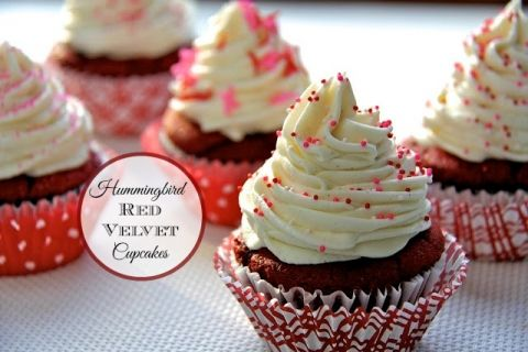 Red Velvet Cupcakes - Rich, moist, decadent and delicious with a melt in your mouth cream cheese buttercream. The recipe's from a famous London cupcake shop!