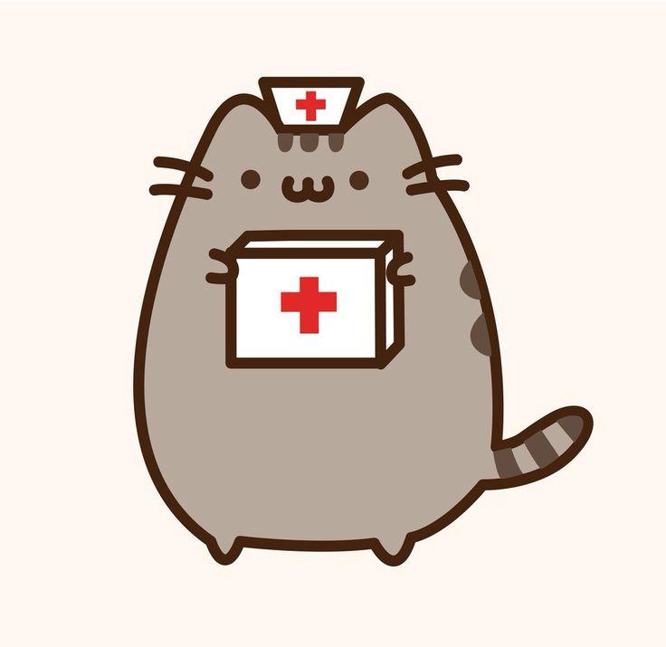 Cuando necesite una enfermera para ayudarme llamo a la enfermera pusheen!!