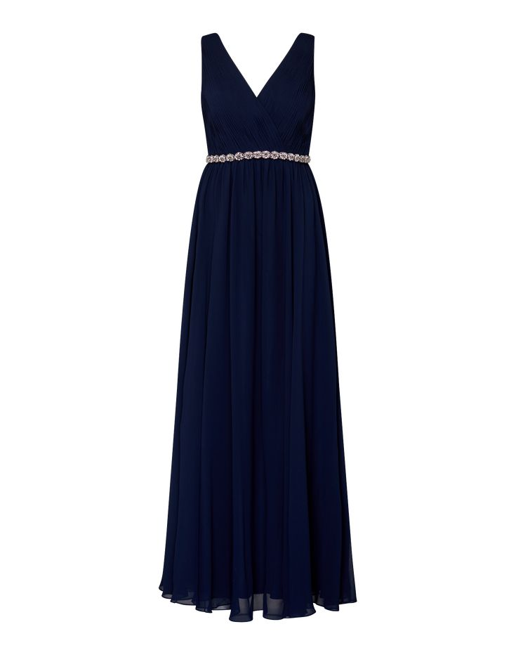 Laona Abendkleid mit Ziersteinen in Dunkelblau | ABOUT YOU