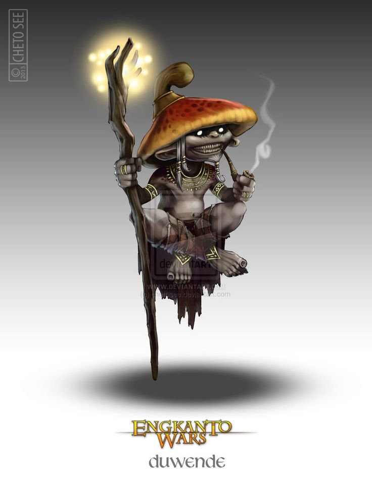 Duwende – I just love creatures from the Philippines! These were my mushroom-based monsters at first, but then I learned about the real mushroom creatures from myth (Trenti) and then these weren't needed anymore.