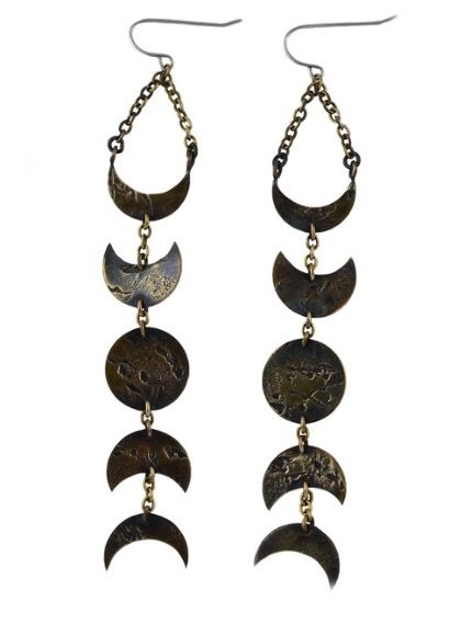 Moon phase earrings, Army of Rokosz