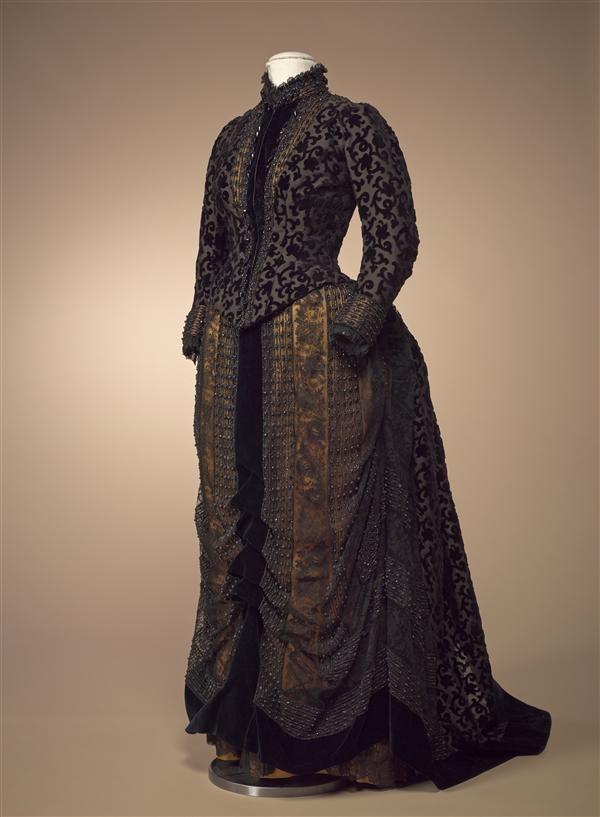"fripperiesandfobs: ""Dress ca. 1885 From the Gemeentemuseum Den Haag via Europeana Fashion """
