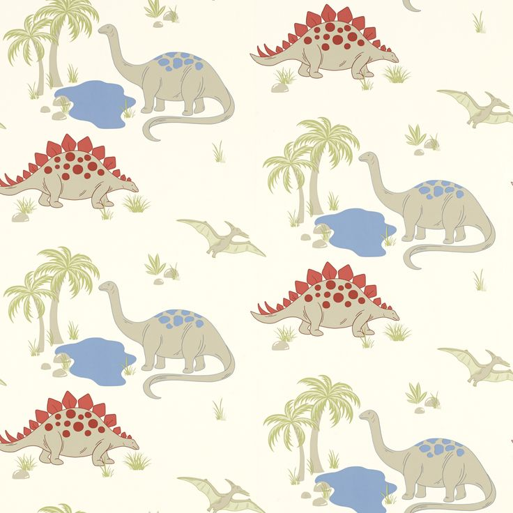 Dinosaurs wallpaper at laura ashley