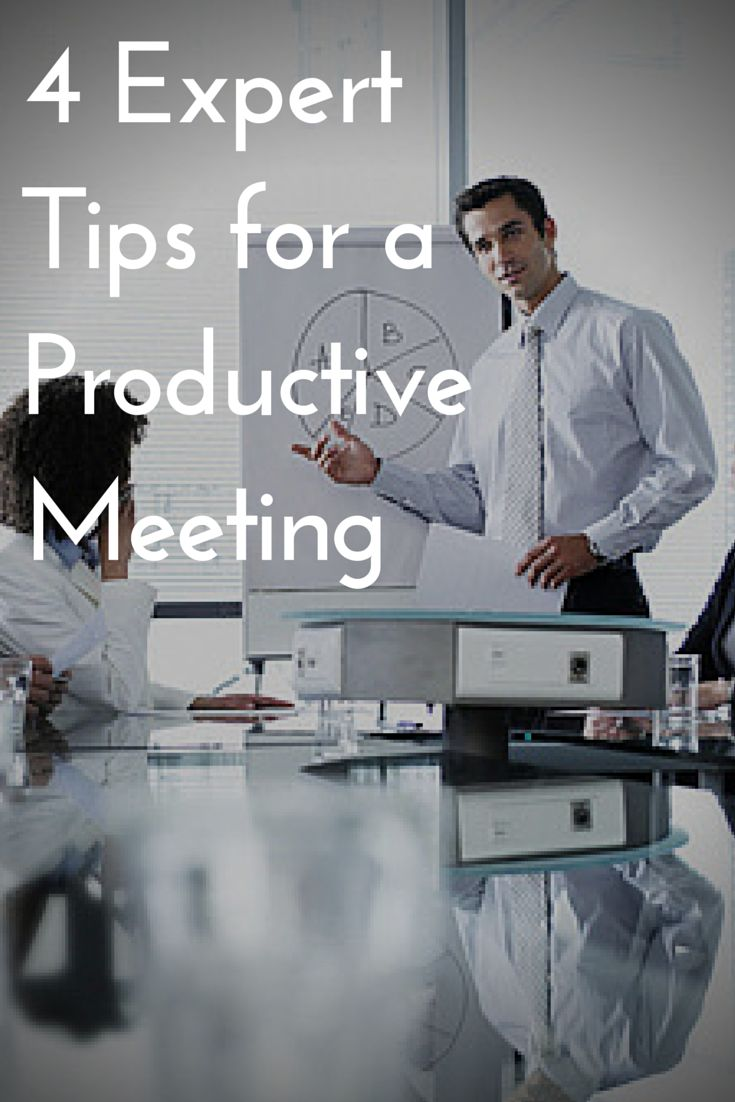 Meetings can be a drag--literally. Here are four tips to save time and sanity while planning your next group session. #ProductiveMeetings