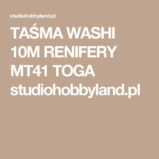 TAŚMA WASHI 10M RENIFERY MT41 TOGA studiohobbyland.pl