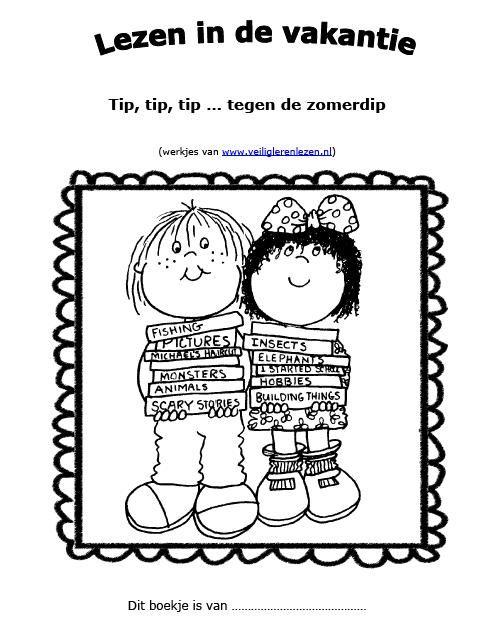 Om ouders en kinderen van groep 3 aan te moedigen ook in de vakantie te blijven lezen, heb ik deze twee boekjes gemaakt. Je vind ze in de leermiddelendatabase van Digischool: http://leermiddel.digischool.nl/po/leermiddel/c2df7e61135e3b99e2d14246d1c348fb