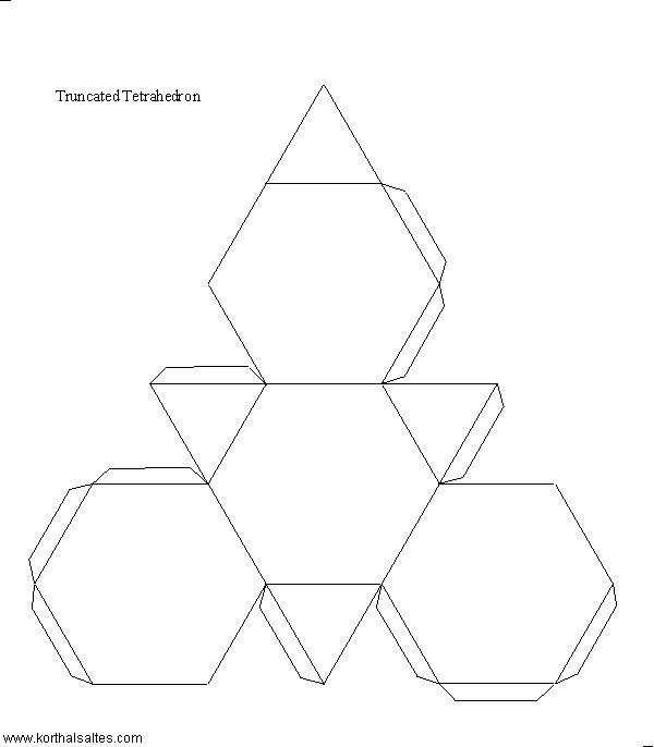 Net truncated tetrahedron