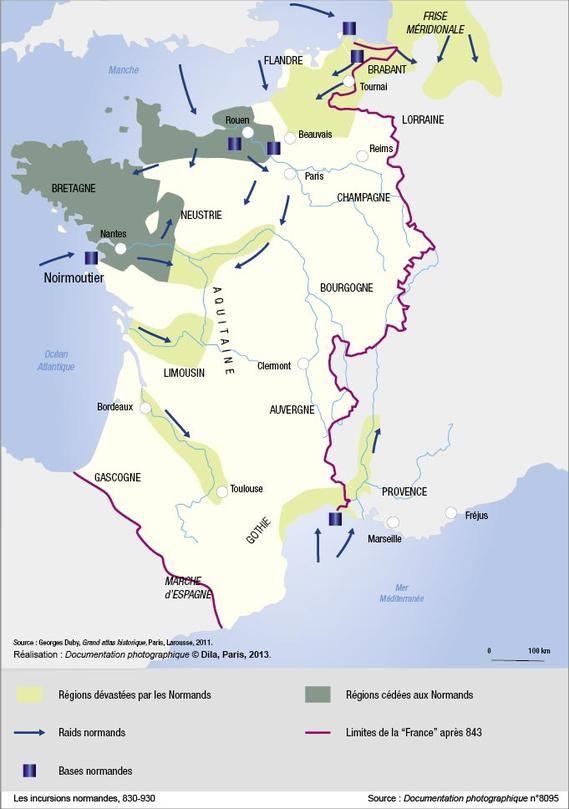Les incursions normandes, 830-930