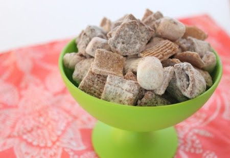 Smore's Muddy Buddy Chex Mix made 1/2 batch w chex 9/12. H loves!