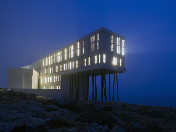 Fogo Island Inn, an architectural gem located on Fogo Island in Iceberg Alley.