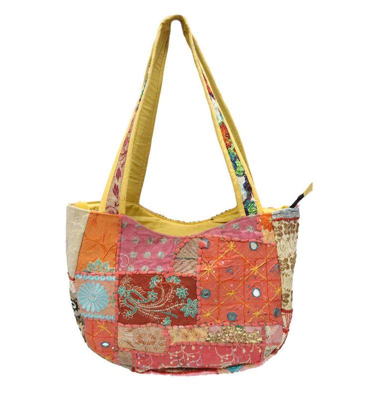 Handmade Patchwork Gypsy Bags Bohemian Indian Cotton Bags Women Shoulder Bags #Handmade #ShoulderBags