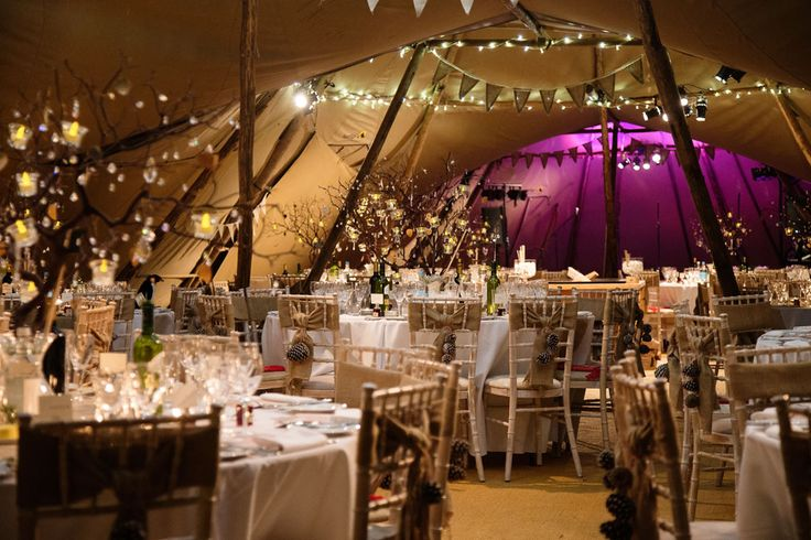 Winter tipi wedding by World Inspired Tents, images by barkerevans.com