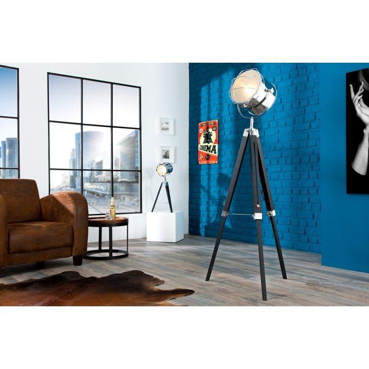 Stalamp driepoot 110-150cm zwart/chroom - 36883