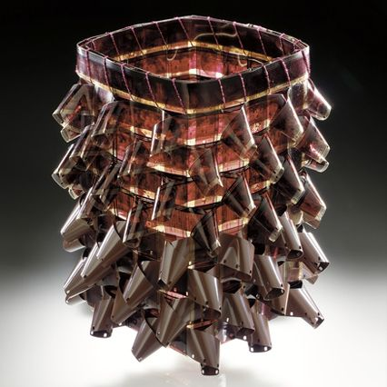 Gail Tremblay (Onondaga/Mi´kmaq, b. 1945), Strawberry and Chocolate, 2000. 16mm film and fullcoat, height 229 cm. Photo by Ernest Amoroso, NMAI.Contemporary Life, Chocolates, Fiber Artistry, American Indian, Strawberries, Gail Tremblay, Art Baskets, Basketry Inspiration, Contemporary Basketry
