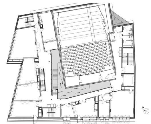 Music Conservatory in Paris' 17th Arrondissement,First Floor Plan