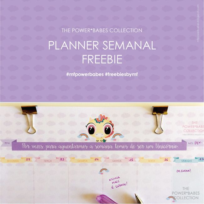 Weekly planner printable //mfpowerbabes