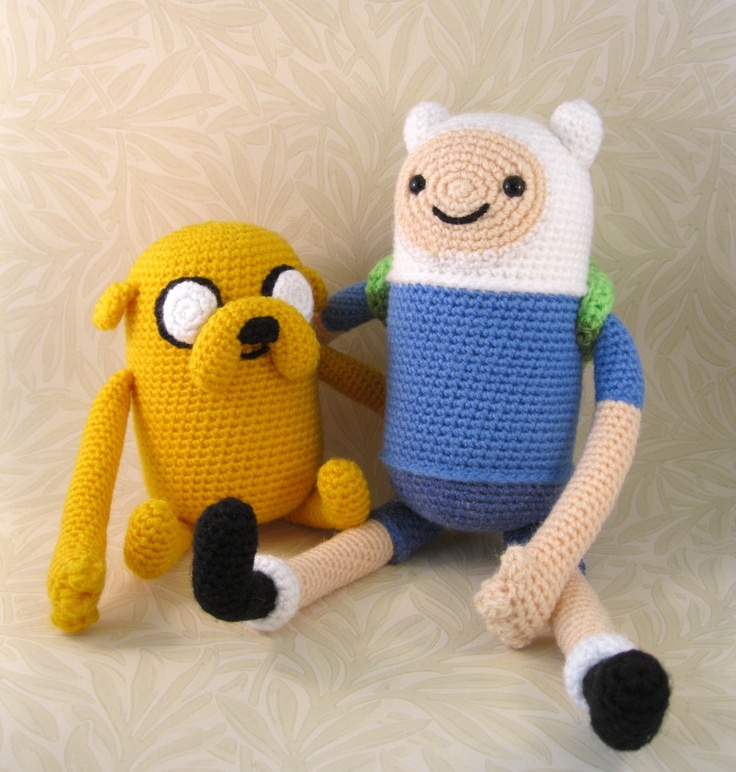 PDFs of Finn and Jake Crochet Patterns $ ~via Lucyravenscar