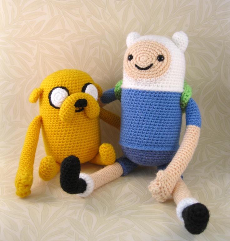 PDFs of Finn and Jake Crochet Patterns $ ~via Lucyravenscar