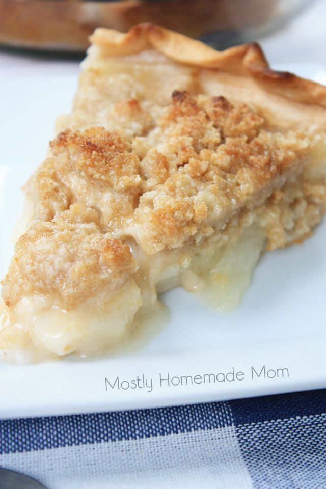 This classic Amish Pear Crumb Pie comes together so quick and easy! Fresh picked, juicy pears seasoned with cinnamon and nutmeg, with a but...