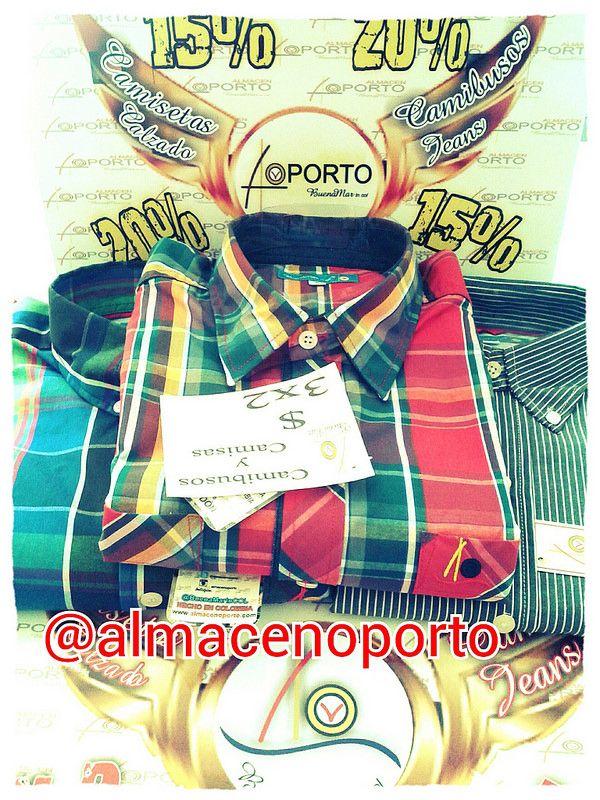 #SigueLaNotaBuenaMarJeans Promociones @almacenoporto #3X2 Camisas y camisetas #BuenaMarJeans Cartago